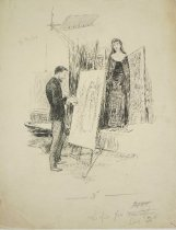 Image of [Artist painting nun] - Herford, Oliver, 1863-1935