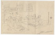 Image of [Inmates eating in a cell] - Tobita, Tokio, 1918-