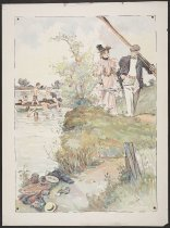 Image of [Swimming boys and couple] - Keller, Arthur Ignatius, 1866-1924