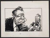 Image of [Man looking at phone and book] - Vanderbeek, Donald William, 1949-2014