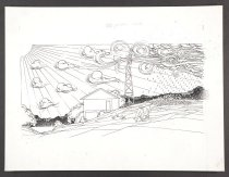 Image of [House with weather vane and weather approaching] - Vanderbeek, Donald William, 1949-2014