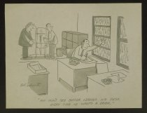 Image of You don't see Baker leaving his desk every time he wants a drink. - Schroeter, Bob