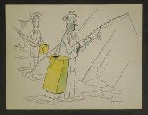 Image of [Men fishing with yellow creel baskets] - Wilson, Roy