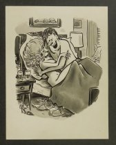 Image of [Man and woman in bed] - Wyma, Peter, fl.1953