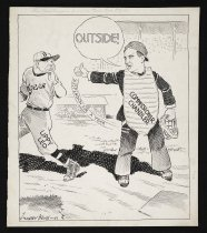 Image of The new umpire finally calls one right - Keys, Harry, 1886-1948