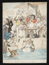 Image of Ducking a scold  - Rowlandson, Thomas, 1756-1827