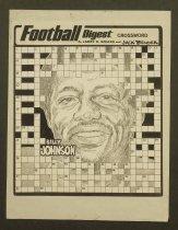 Image of Football digest crossword Billy Johnson - Bender, Jack, 1931-
