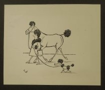 Image of [Poodle dog, woman, and horse] - Bellocq, Pierre, 1926-