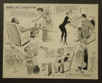 Image of Money ain't everything to the sports star's spouse...  - Harsh, Lew, 1911-1982