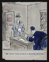 Image of [9 police cartoons 'Collier's Cops' or 'Pottsy'?] - Irving, Jay, 1900-1970