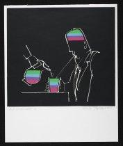 Image of [Man drinking through a straw] - Jovanovic, Zoran, 1938-