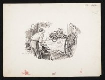 Image of [Blacksmith at work in a forge, automobile driving by] - Content, Dan