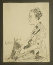 Image of [3 drawings of Beatrice Lilly] - Shellhase, George, 1895-1988