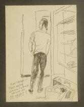 Image of [10 hospital drawings.The 'Bethesda Hospital Blues'] - Shellhase, George, 1895-1988