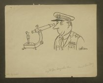 Image of [Army Colonel inspects private through a microscope] - Cobean, Sam, 1913-1951