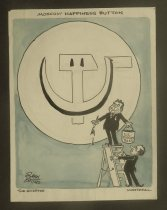 Image of Moscow happiness button - Collins, John, 1917-2007