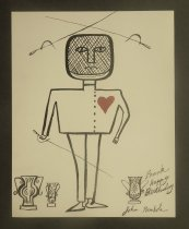 Image of [Fencer with a heart] - Rombola, John, 1933-