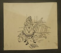 Image of [Girl having a tantrum] - Levering, Albert, 1869-1929