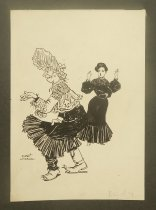 Image of [Woman shocked by character in costume] - Levering, Albert, 1869-1929