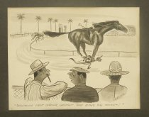"Image of ""Something went wrong, Greasey. They doped the jockey!"" - Pearson, Charles, 1913-1991"