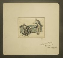 Image of [Standing man talking to man slumped on a couch]  - Tepper, Saul, 1899-1987