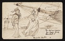 Image of [Postcard, sketchbook and notebook cover] - Foster, Hal, 1892-1982