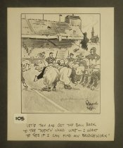 """Image of """"Let's try and get the ball back to the twenty yard line - I want to see if I can find my bridgework"""" - Keller, Reamer, fl. 1935-1975"""