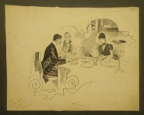 Image of [Couple and an older woman having dinner] - Schultz, A. B.