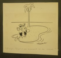 """Image of """"It says, 'Help' I am marooned on an island!"""" - Shirvanian, Vahan, 1925-"""