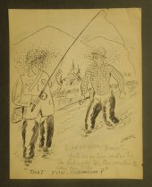 Image of [6 fishing and hunting cartoons] - Garde, Chester L.