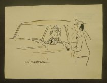 Image of [Car valet sprays driver with window rolled down] - Lundberg, Gustav