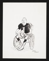 Image of [Football player in wheelchair] - Brown, Buck, 1936-2007