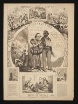 Image of Andrew Johnson's reconstruction and how it works - Nast, Thomas, 1840-1902