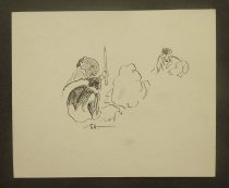 Image of [Sailor approaching native man with stick] - Grant, Gordon, 1875-1962