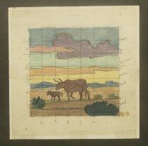 """Image of [Cattle in the desert] - Petersen, K. Gunnor """"Pete"""", 1907-1982"""