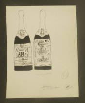 Image of [Blood bottles from 'The Dracula Cookbook'] - Podwal, Mark, 1945-