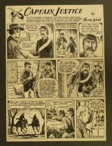 Image of [Two consecutive 'Captain Justice' comic strips]   - Wedd, Monty, 1921-2012