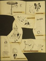 Image of [8 drawings for a feature 'Famous Correspondents'] - Bernstein, Melville