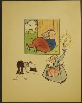 Image of [4 undated cartoon drawings]  - Herschensohn, Wes, 1929-1985