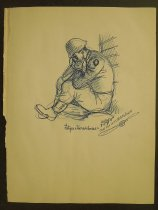Image of [Four army drawings. Camp San Louis Obispo California]  - Herschensohn, Wes, 1929-1985