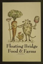 Image of Floating Bridge Food & Farms Poster - Koren, Edward, 1935-