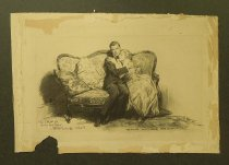 Image of [Man and woman on sofa] - Brown, Arthur William, 1881-1966