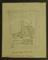 Image of [Layout sketch for the June 1976 cover of 'Sick' (magazine)] - Norem, Earl, 1923-2015