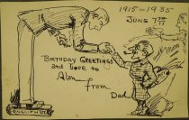 Image of Birthday Greetings and Love to Alan from Dad and Mom - Walker, Alanson Burton, 1878-1947