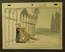 Image of [Fox closing a door into the chicken coop] - Bjaekovska, K.
