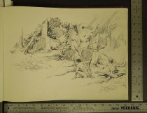 Image of [Jungle scene with hunters] - Krenkel, Roy, 1918-1983