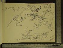 Image of [Jungle animals chasing cave man] - Aragones, Sergio, 1937-