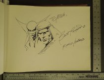 Image of [Iron Fist character sketch and unknown character sketch] - Nebres, Rudy