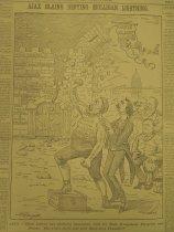 Image of Ajax Blaine Defying Mulligan Lightning. - McDougall, Walter, 1858-1938