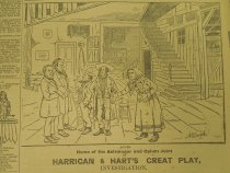 Image of Act 2D. Home of the Astrologer and Opium Joint. Harrigan & Hart's Great Play, Investigation. - McDougall, Walter, 1858-1938